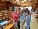 DB ladies enjoying the Weaver's Building at the Vista Antique Gas and Steam Engine Museum- Barbara Boone, Trish Stewart, Karen O